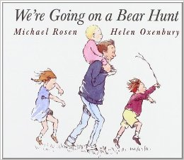 There are many children's books that will help provide speech therapy for your kids. We're Going on a Bear Hunt is one of my favorites.